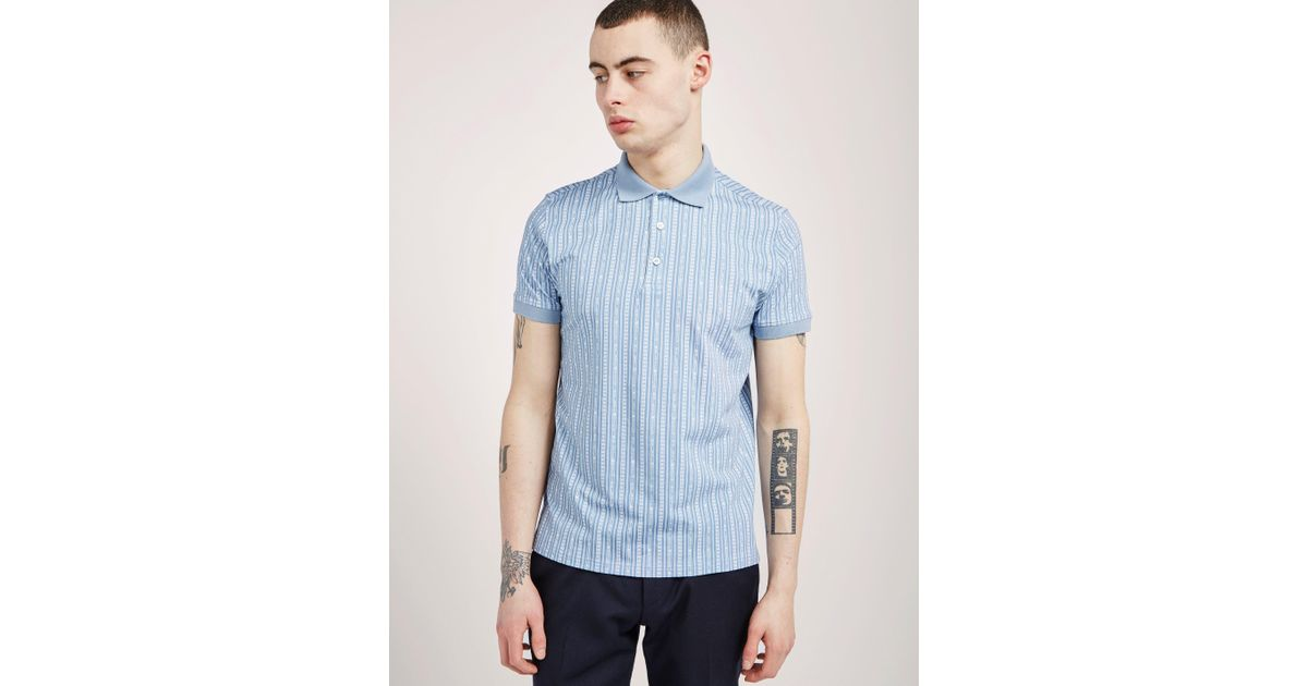 3f5e2293 Lyst - Love Moschino Mens Short Sleeve Polo Shirt Light Blue in Blue for Men