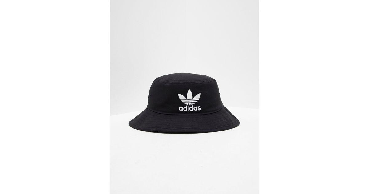 fcb4b9add2c Lyst - adidas Originals Mens Trefoil Bucket Hat Black black in Black for Men