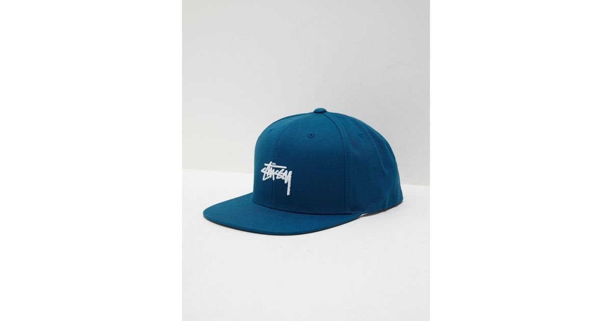 6bf2fd96764 Lyst - Stussy Stock Snapback Teal teal in Blue for Men