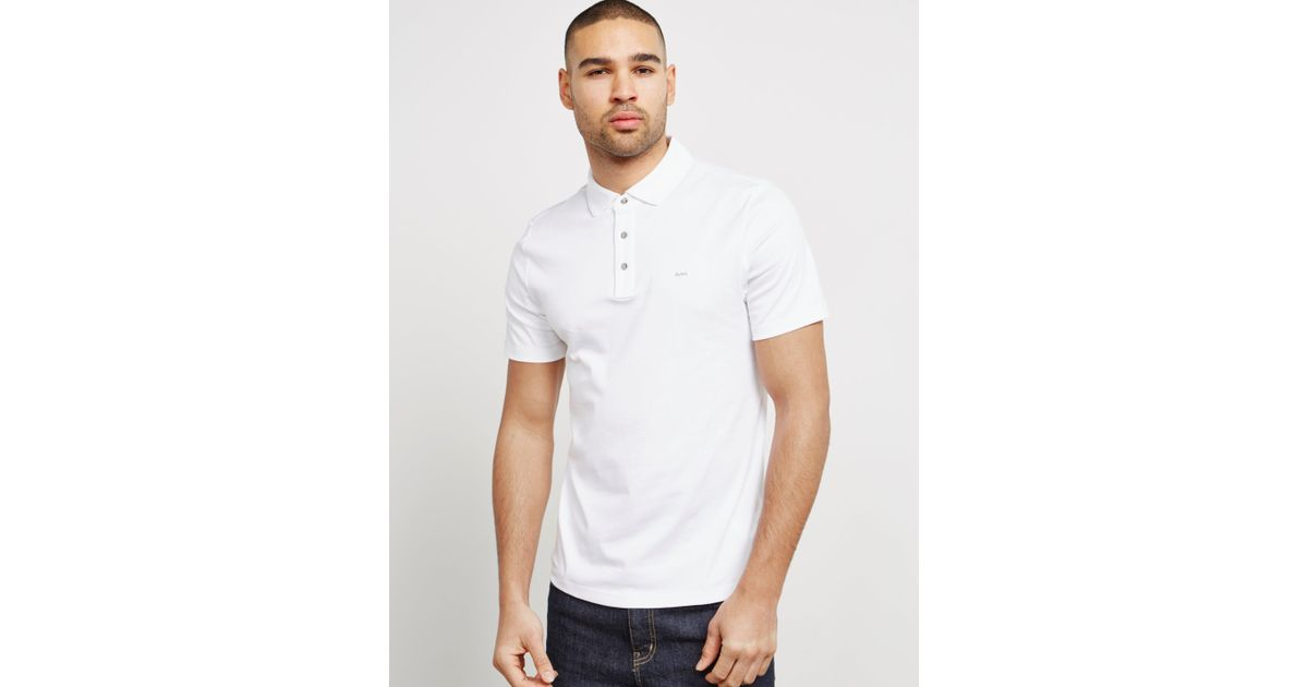 6619bbcd Michael Kors Sleek Short Sleeve Polo Shirt White in White for Men - Lyst