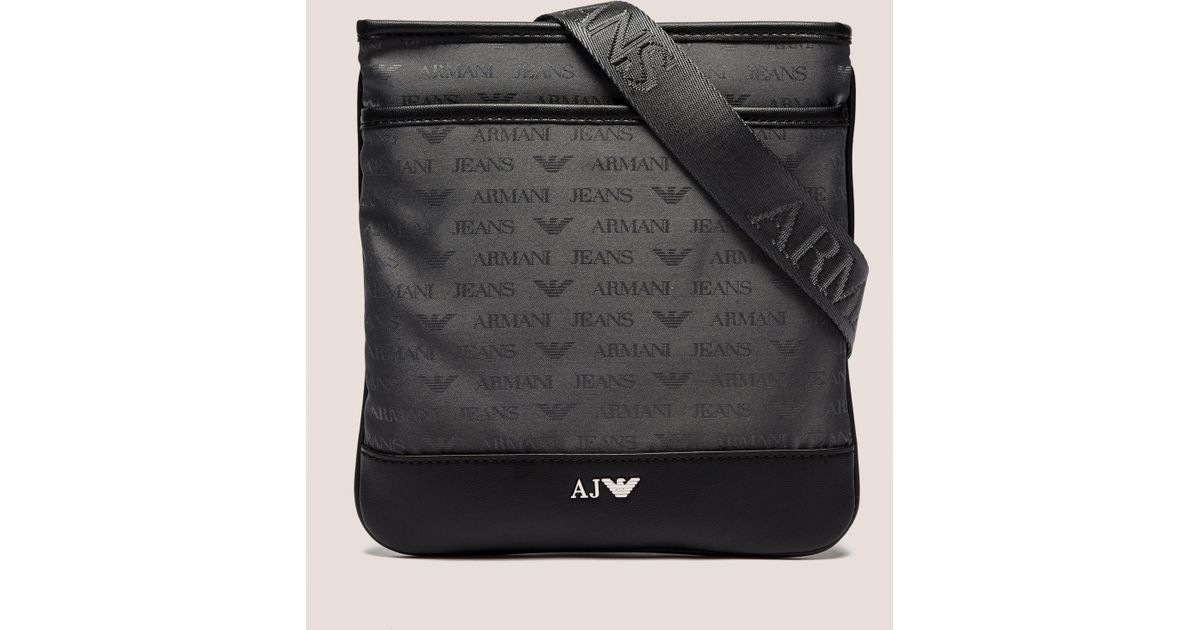 Lyst Armani Jeans Mens Small Bag Grey Grey In Gray For Men
