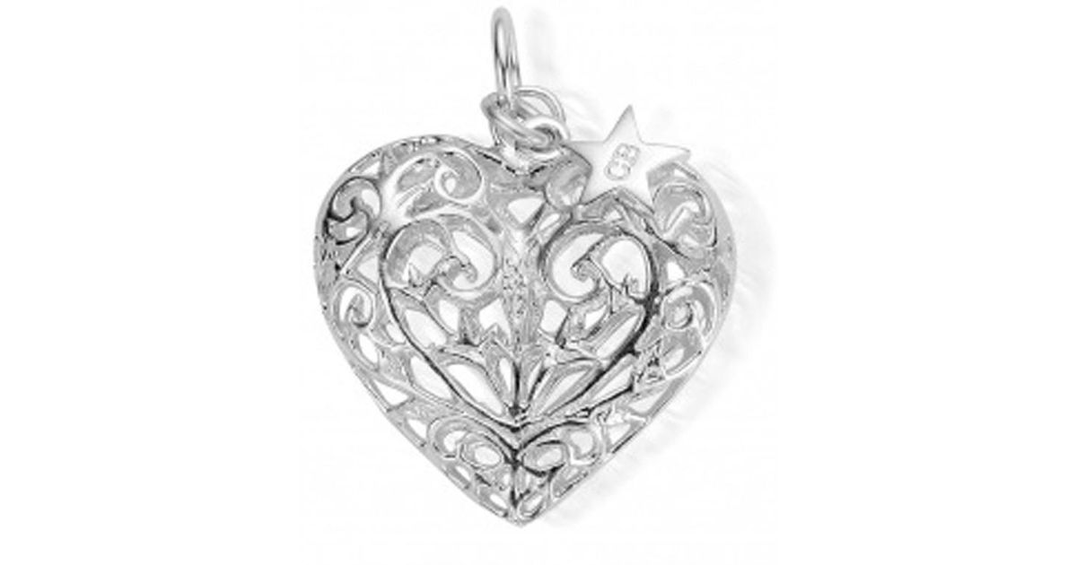 Lyst chlobo large filigree heart pendant in metallic aloadofball Image collections