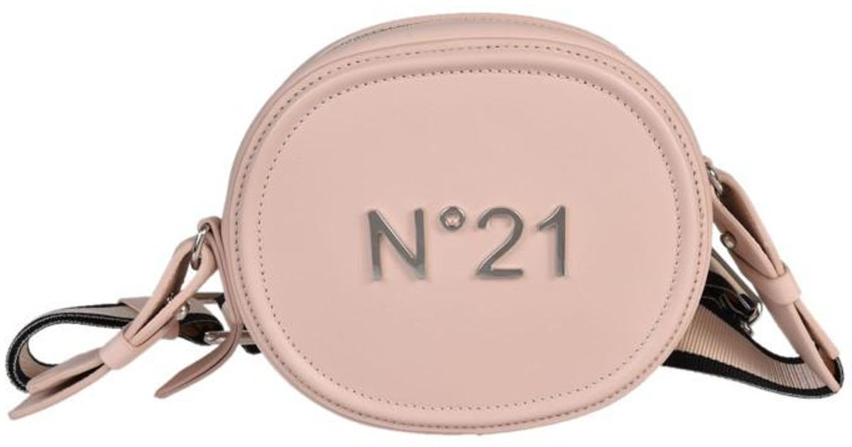 Logo Bag Pink Shoulder No21 N°21 Plated Lyst In 5w6aag