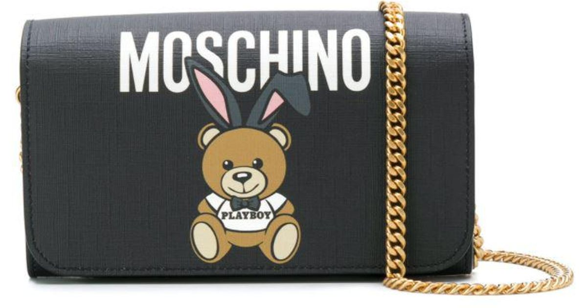 Teddy Playboy wallet on chain - Black Moschino Pay With Visa Cheap Price xK9fCmCxcO