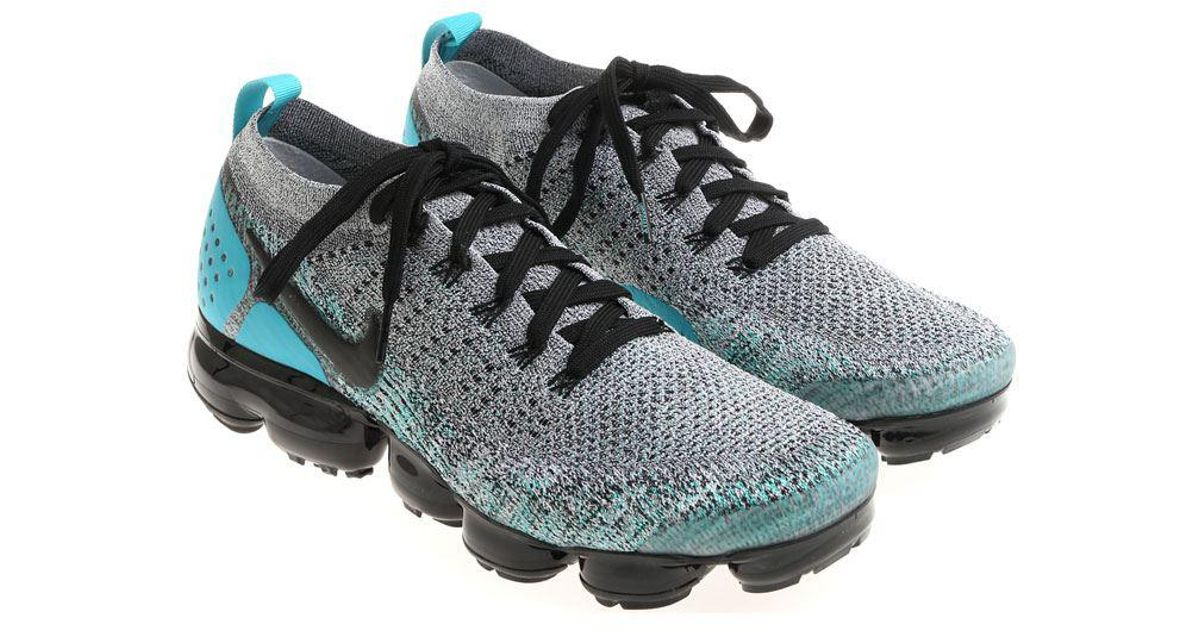 Lyst - Nike Grey And Light Blue Air Vapormax Flyknit 2 Sneakers in Gray for  Men 25a2d3fb4f