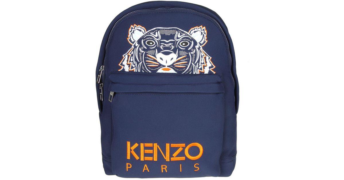 6976e039c5 KENZO Blue Large Neoprene Tiger Backpack in Blue for Men - Lyst