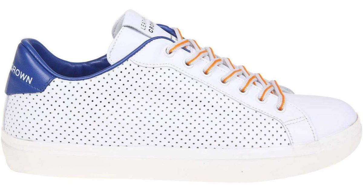 Crown Men For Blue Sneakers Lyst And White Iconic Leather jqLSUzpGMV