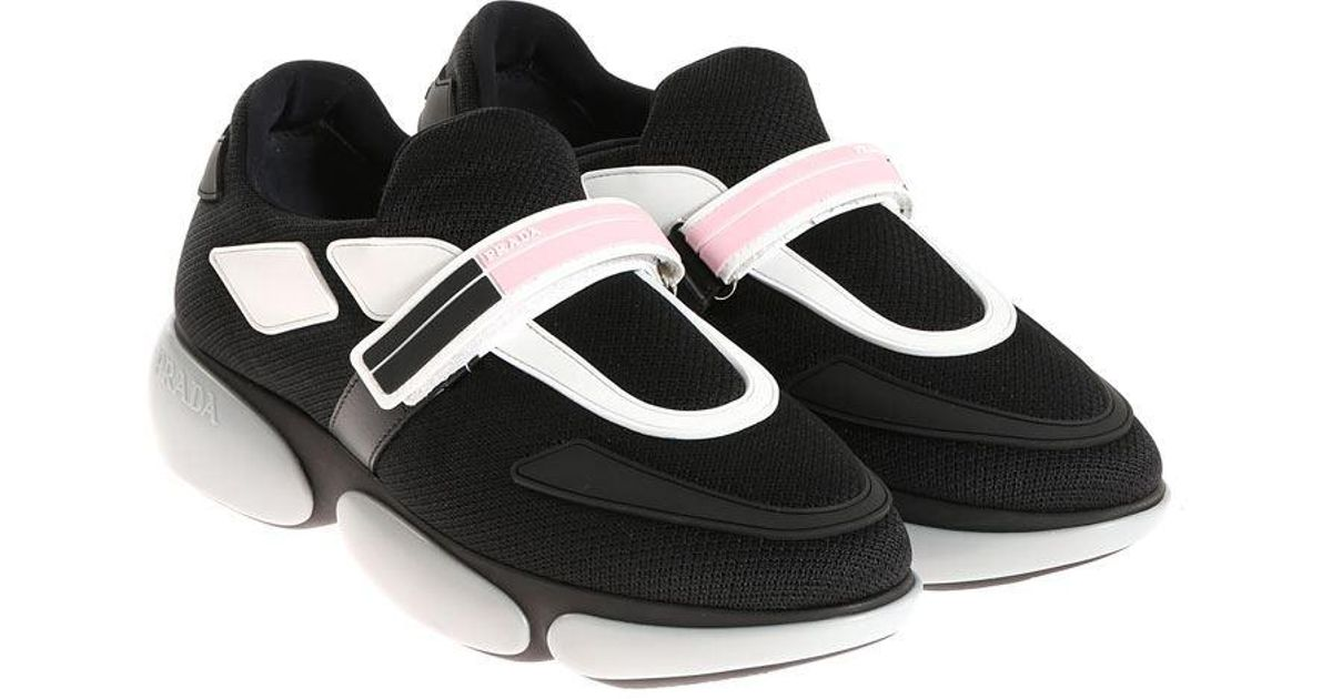 b16f2de612b Prada Sport Knit 2 Sneakers in Black - Lyst