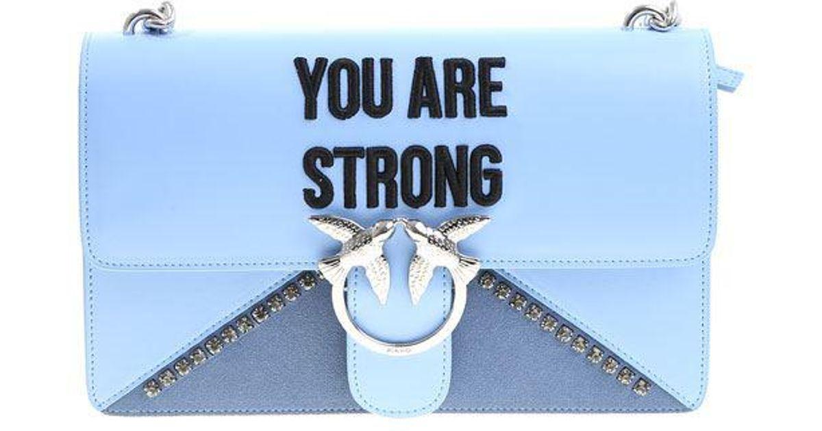Light Bolsa Love Are Strong Pinko Blue You PaPrwBq