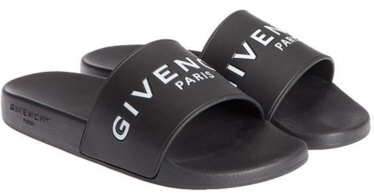 5cced1d0c2 Givenchy Rubber Slides With Logo in Black for Men - Save 44% - Lyst