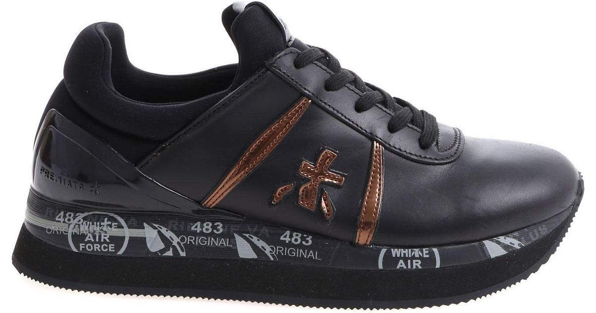 With Details Liz Lyst Premiata In Bronze Sneaker Black Fw7nxRq8f