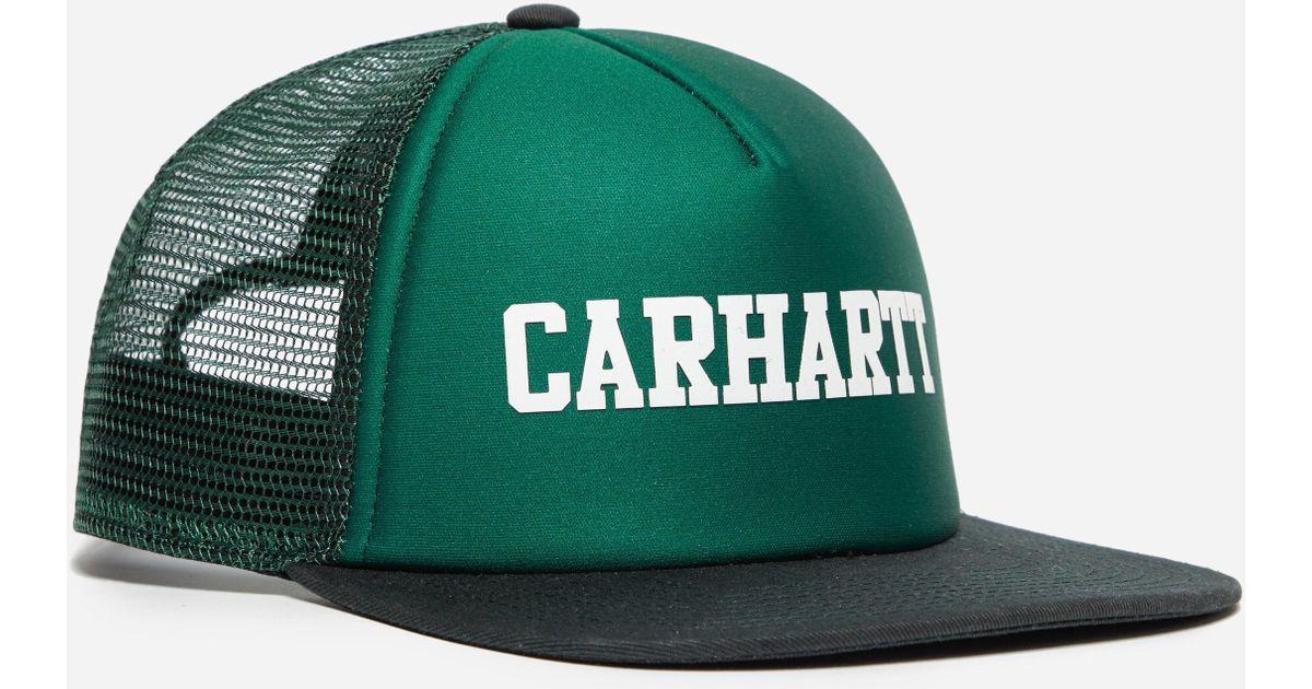 0038ccc1575e0 Lyst - Carhartt WIP College Trucker Cap in Green for Men - Save 51%