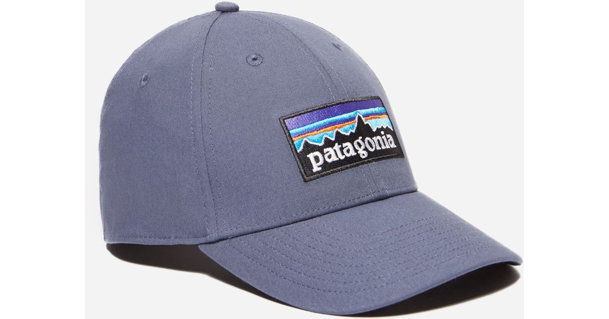Lyst - Patagonia P-6 Logo Stretch Fit Hat in Blue for Men 54596e8ca4e