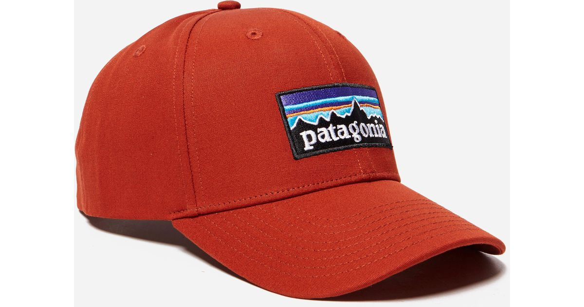 ee269925 Patagonia P-6 Logo Roger That Hat in Red for Men - Lyst