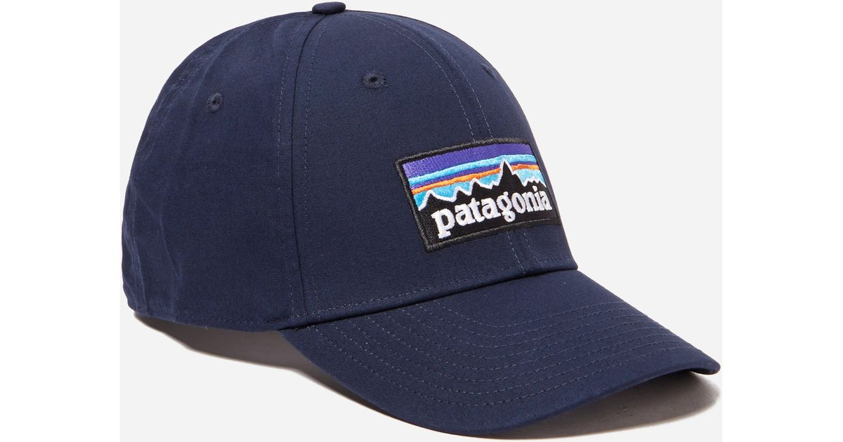 Lyst - Patagonia P6 Logo Stretch Fit Hat in Blue for Men b8f07409d9b