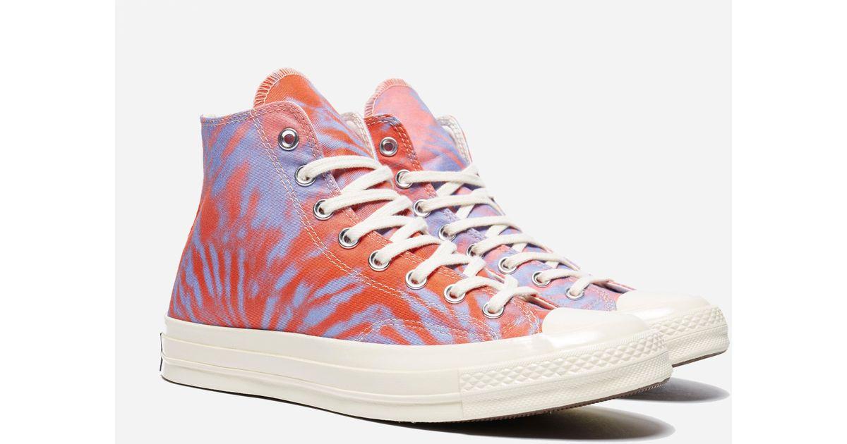 9862b85c0cbe Converse Pink Chuck Taylor All Star 70 Hi Tie Dye For Men Lyst