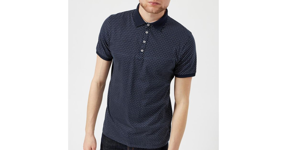 bd251f9753358e Lyst - Ted Baker Boxer Geo Print Polo Shirt in Blue for Men