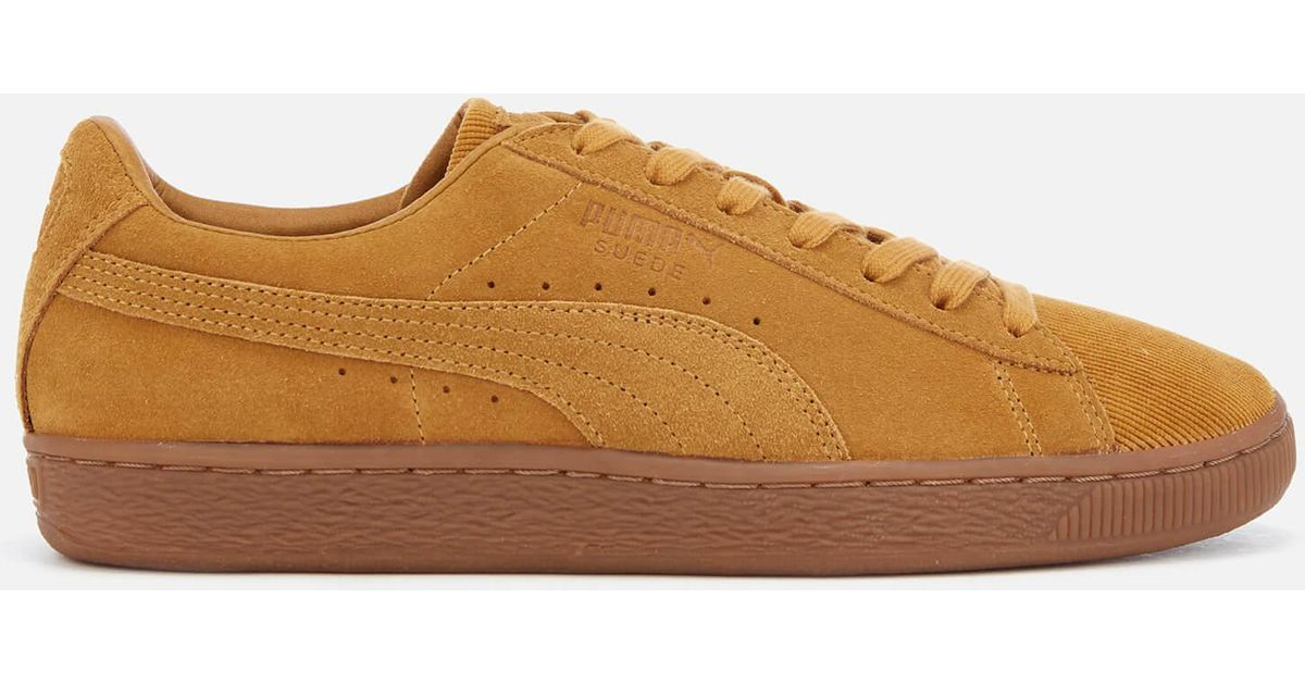 Lyst - PUMA Suede Classic Pincord Trainers in Yellow for Men 1de54cdc6