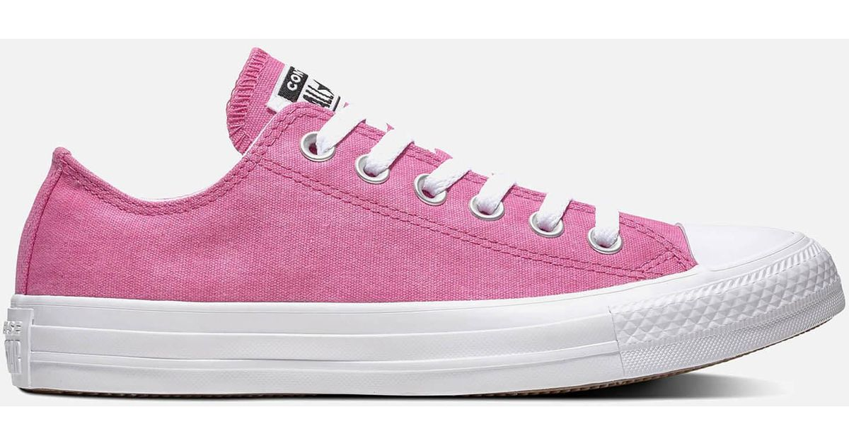 7622ec05df7f Lyst - Converse Chuck Taylor All Star Court Fade Ox Trainers in Pink
