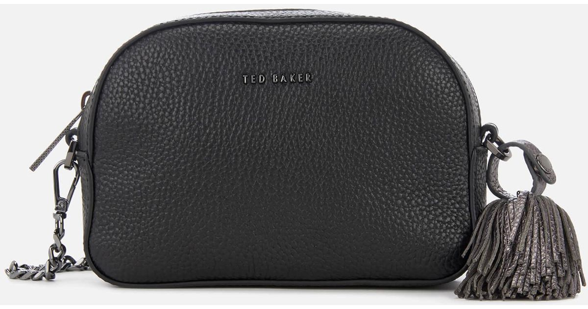 fded7730f Ted Baker Madiiee Leather Pom Belt Bag in Black - Lyst
