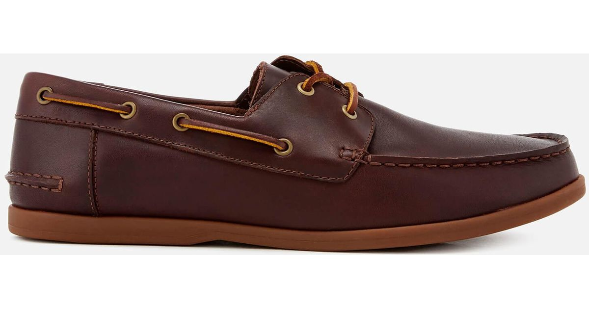 purchase genuine top-rated professional new products Clarks Brown Morven Sail Leather Boat Shoes for men