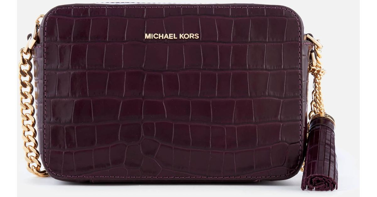 b50f8a41a121 MICHAEL Michael Kors Ginny Medium Camera Bag in Purple - Lyst