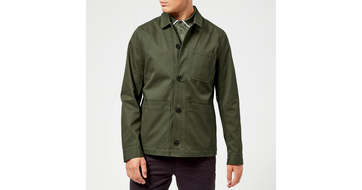 8b413f09954ea5 Lyst - Ted Baker Grapes Workwear Jacket in Green for Men