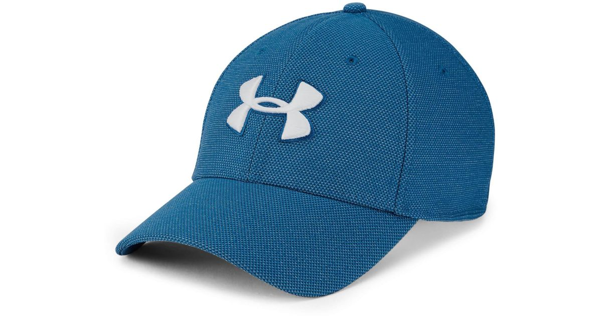 a2c845c8649 Under Armour Heathered Blitzing 3.0 Cap in Blue for Men - Lyst