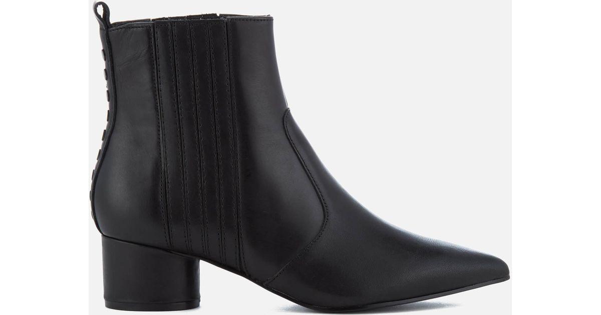 d2e31797baf Kendall + Kylie - Black Laila Leather Heeled Chelsea Boots - Lyst