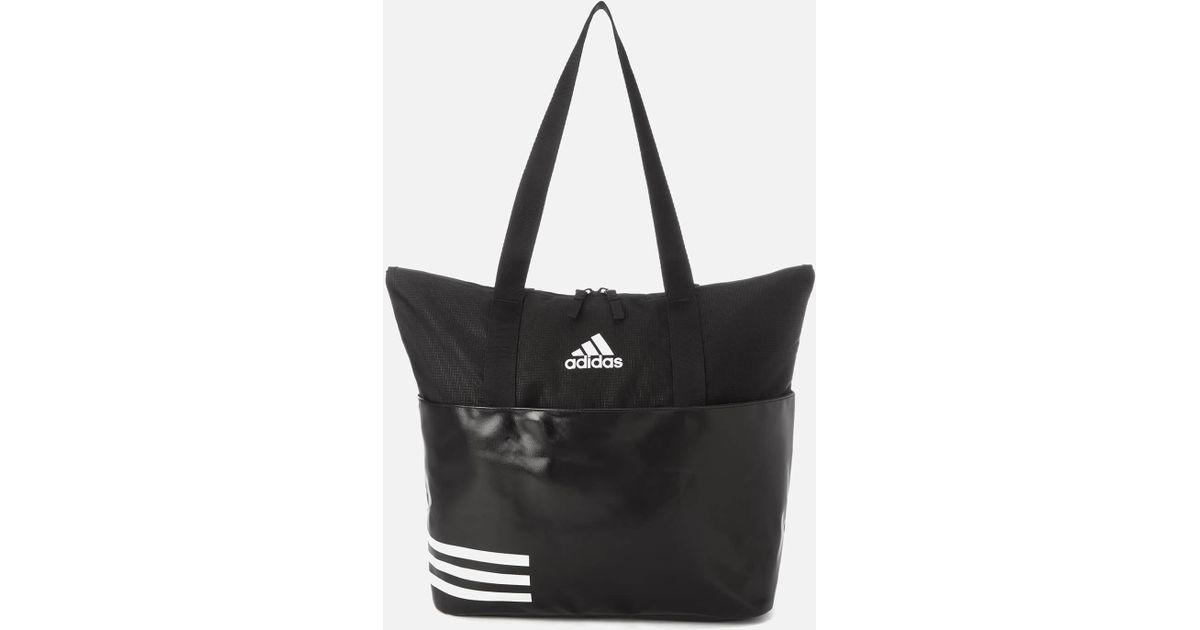 09234974cb53 Lyst - adidas 3 Stripe Tote Bag in Black