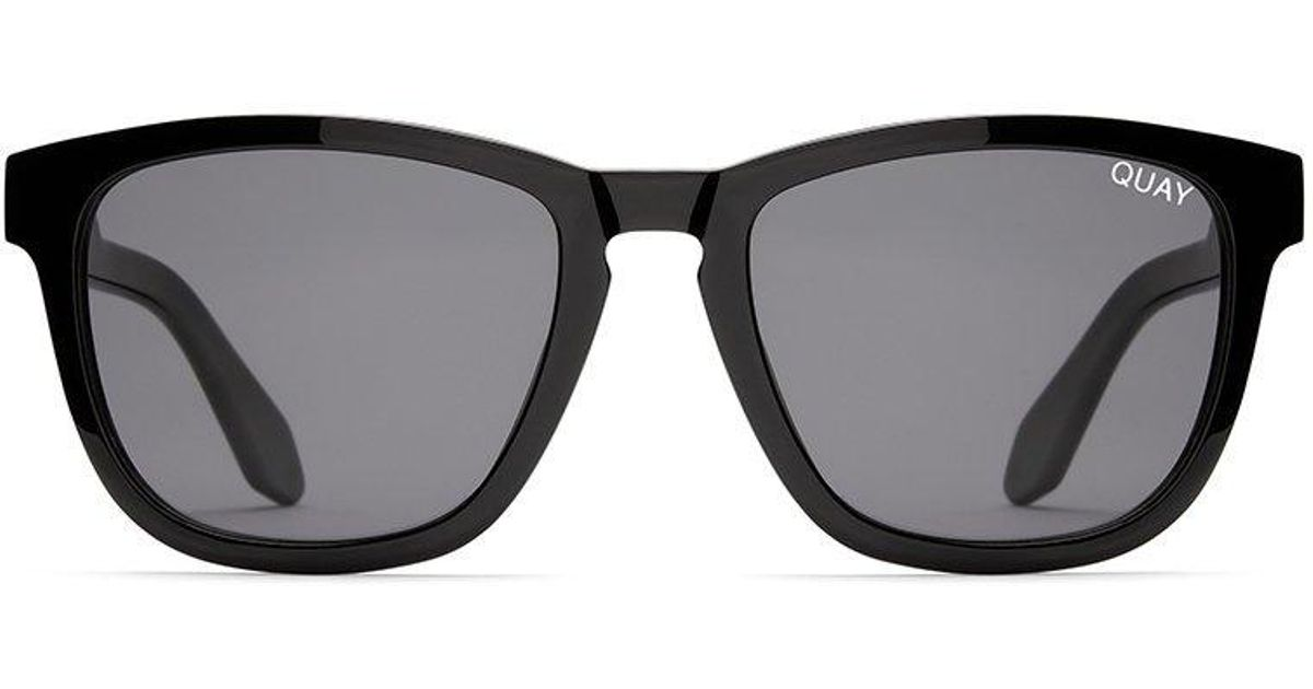 cc86ef0b5287e Lyst - Quay Hardwire Sunglasses Black With Smoke Lens in Black for Men