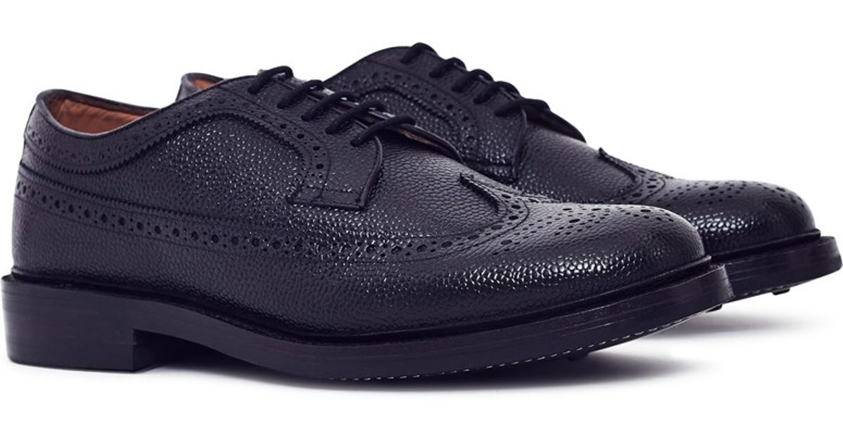 e7223f215c8 Lyst - G.H.BASS Monogram Triple Welted Longwing Grain Brogue Black in Black  for Men
