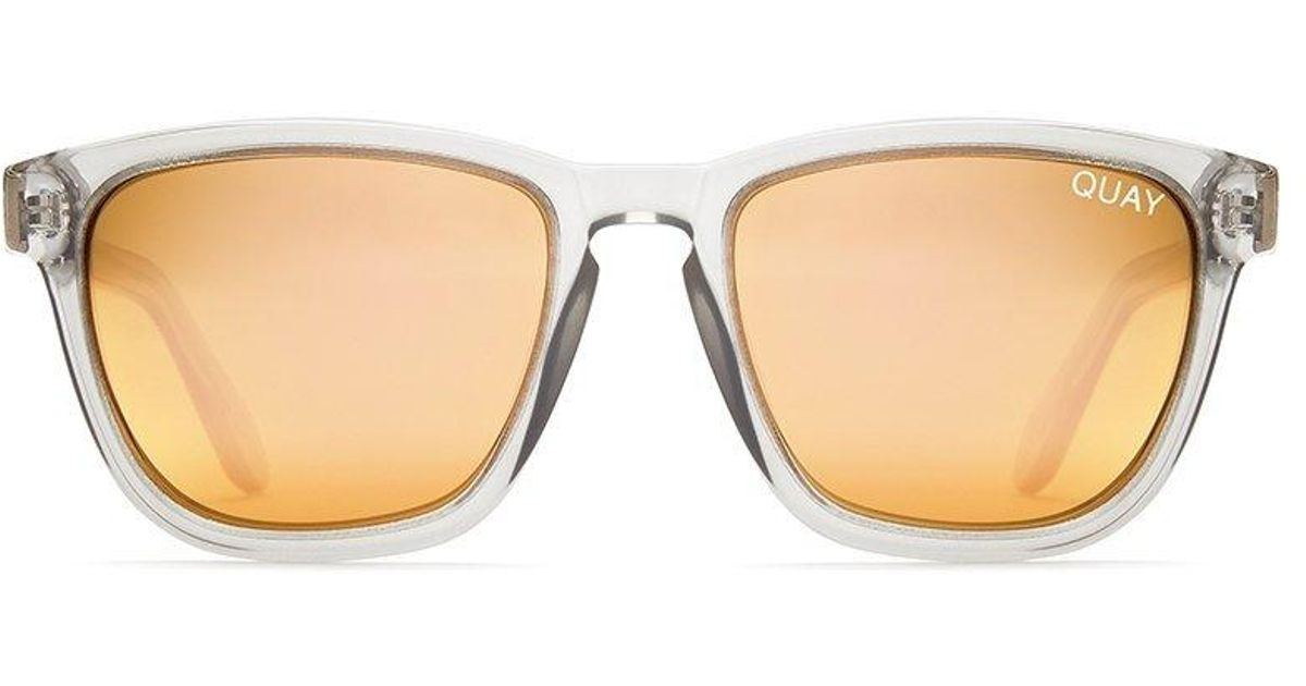52244b2283ae9 Lyst - Quay Hardwire Sunglasses Grey With Peach Lens in Gray for Men