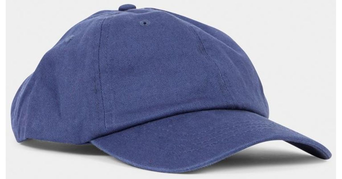 0fef144916 Lyst - The Idle Man Dad Cap Navy in Blue for Men