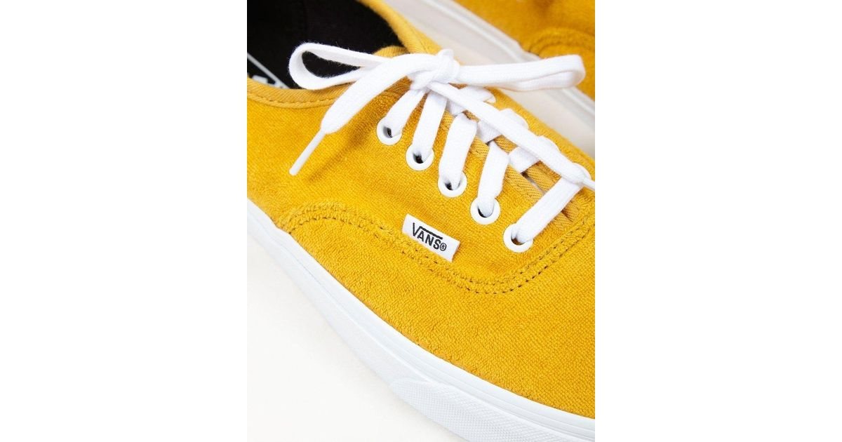 995d9279a6 Vans Authentic Terry Plimsolls Yellow in Yellow for Men - Lyst
