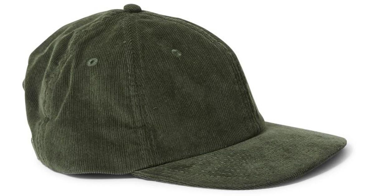 6c43371cbb8 Lyst - The Idle Man Corduroy Cap Green in Green for Men