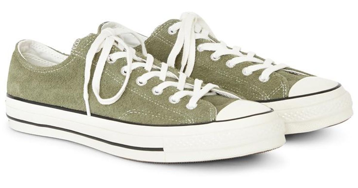 e72eb0b97ec112 Lyst - Converse Chuck Taylor All Star  70 Suede Ox Green in Green for Men