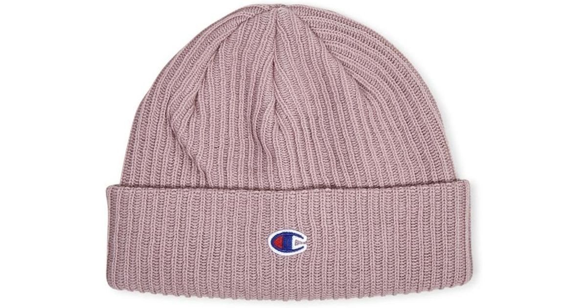 9a04b745339 Champion Beanie Cap Pink - Pink in Pink for Men - Lyst