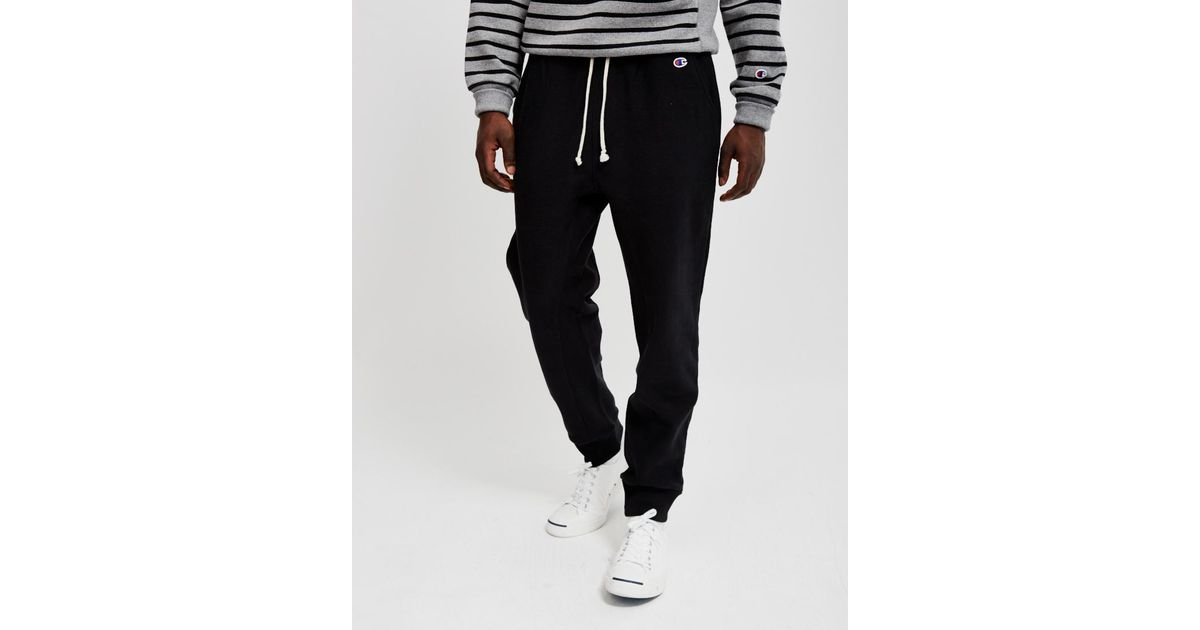 Champion Reverse Weave 2.0 Rib Cuff Pants Black in Black for Men - Lyst ab0ab585daa4d