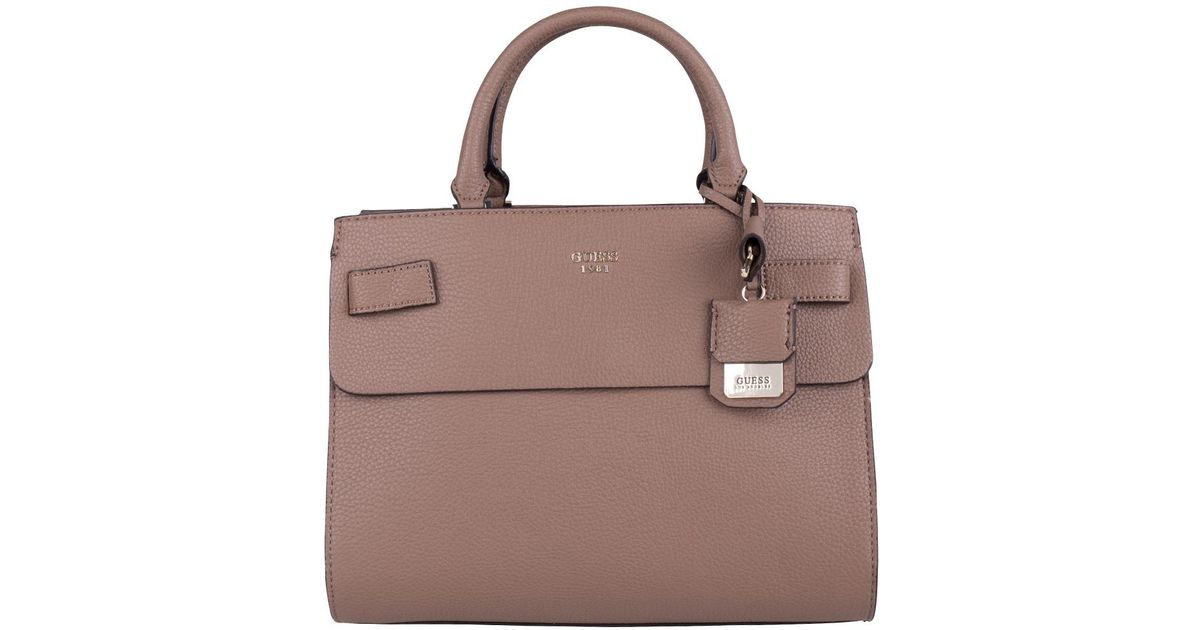 07bf8831f0 Lyst - Guess Cate Satchel in Brown