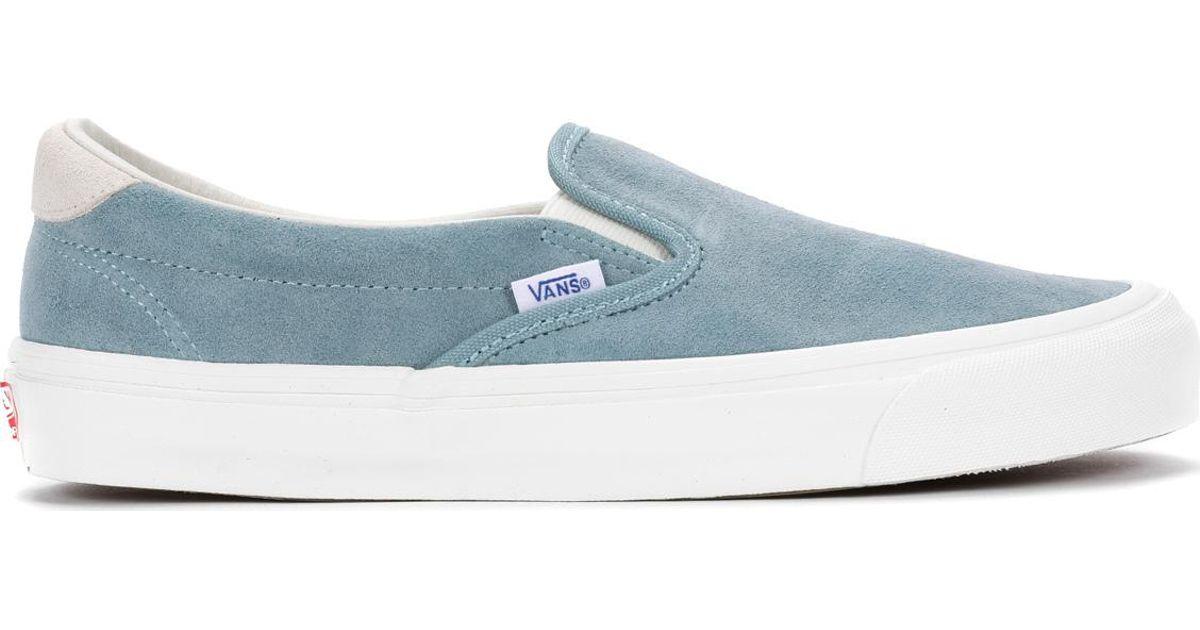 465670ebb579f2 Lyst - Vans Og Slip-on 59 Lx in Blue for Men
