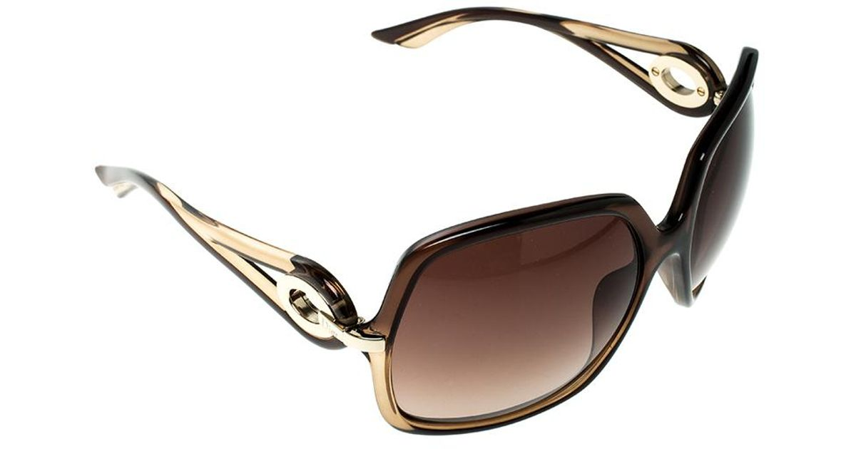 dd78fccb169 Lyst - Dior Christian   Gradient 5y7j6 Volute 1 Square Oversized Sunglasses  in Brown