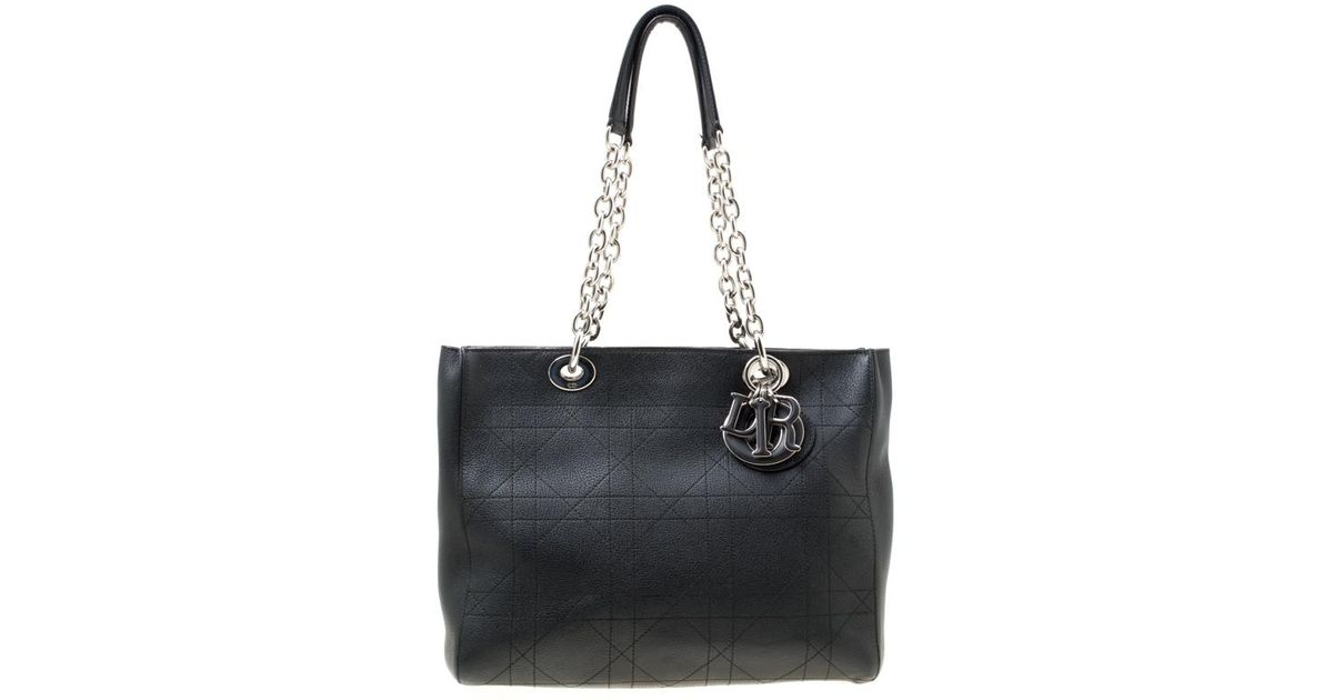Lyst - Dior Cannage Leather Medium Ultra Tote in Black ce854abca5b07