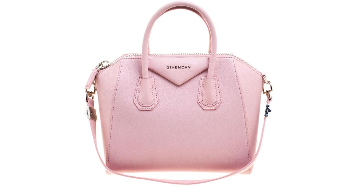 8c20334858 Lyst - Givenchy Leather Small Antigona Satchel in Pink