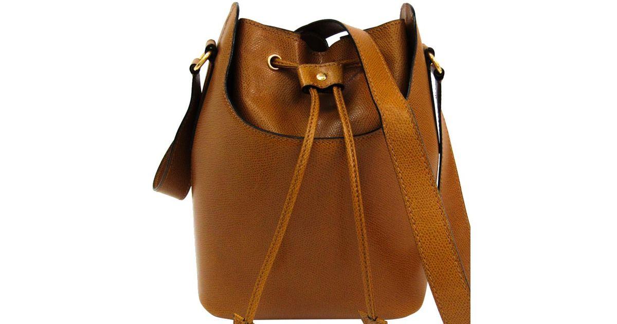 Céline Leather Bucket Shoulder Bag in Brown - Lyst 2a73d8bfc85f1