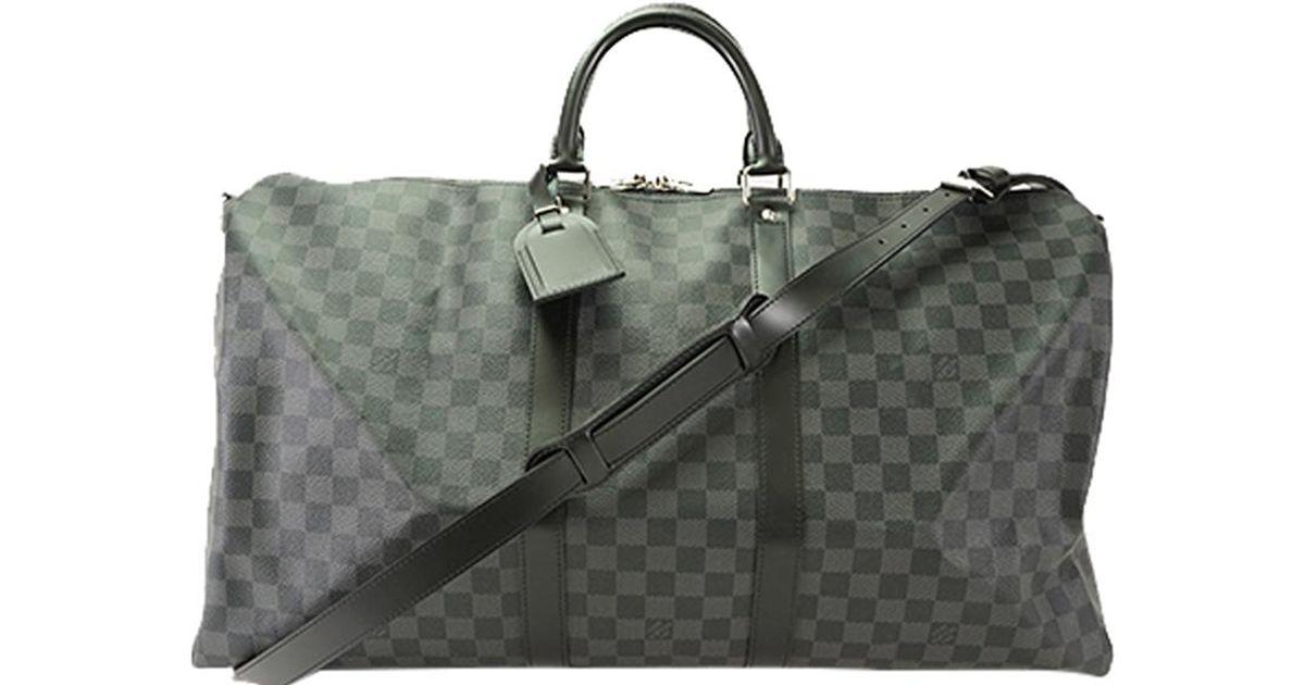 Louis Vuitton Damier Graphite Canvas Keepall Bandouliere 55 Bag for Men -  Lyst a964de0f60