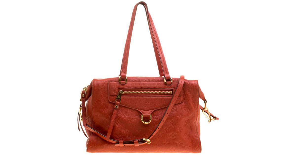 8b084e099 Louis Vuitton Orient Monogram Empreinte Leather Lumineuse Pm Bag in Orange  - Lyst