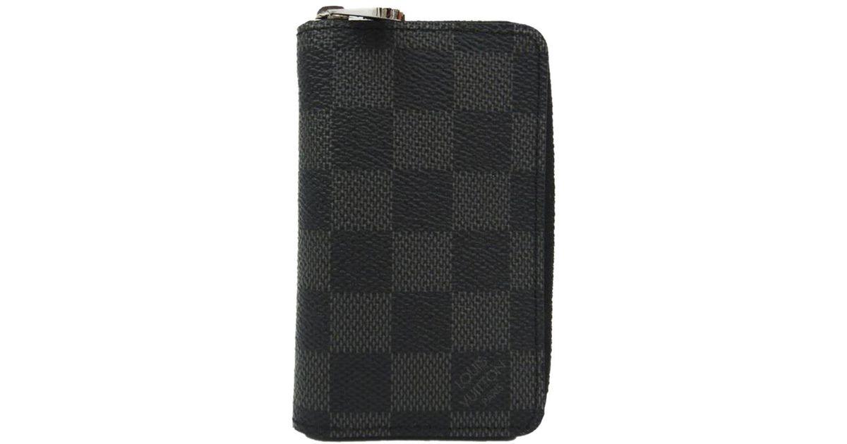 Lyst - Louis Vuitton Damier Graphite Canvas Vertical Zippy Coin Purse for  Men - Save 20% d4e27c78b5f63