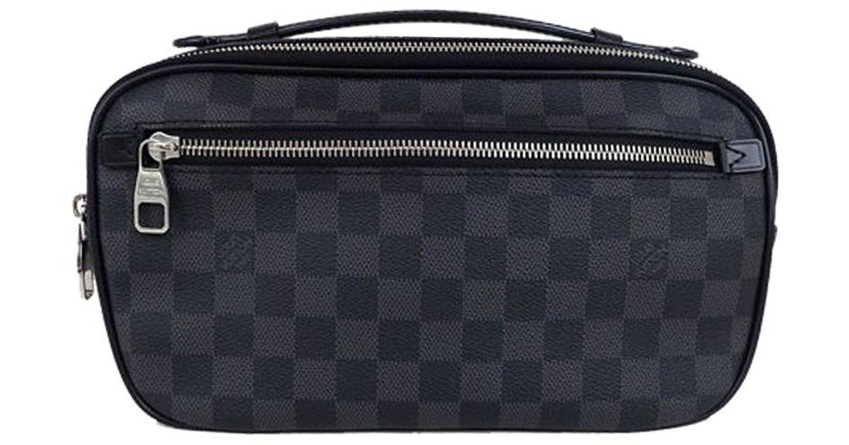 3ac35848100a Lyst - Louis Vuitton Damier Graphite Canvas Ambler Belt Bag in Black for Men