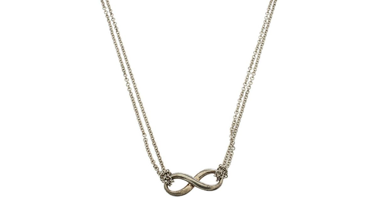 dc46d9d92add Lyst - Tiffany   Co. Infinity Pendant Necklace in Metallic